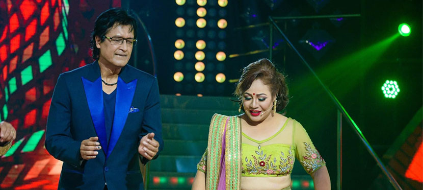 Rajesh Hamal's entry on the stage of 'Dancing with the Stars Nepal'