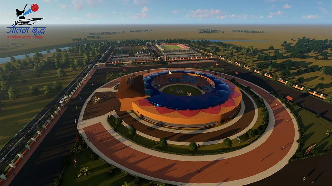 यस्तो बन्नेछ अन्तर्राष्ट्रिय क्रिकेट रंगशाला, हेर्नस् थ्रीडी डिजाइन (भिडियोमा)