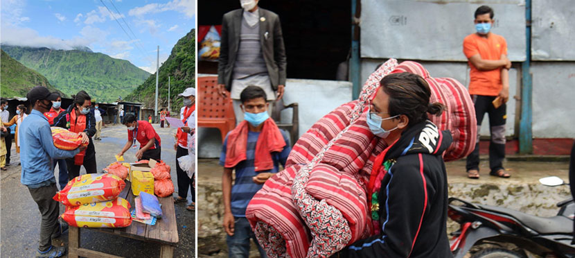 Paul Shah reached Kalikot with relief to help the landslide victims