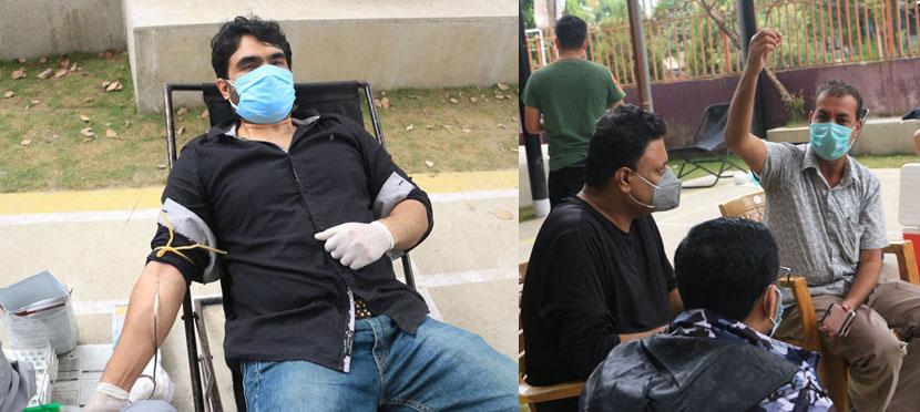 बाढी पीडितका लागि चलचित्र पत्रकार संघ, नेपालद्वारा रक्तदान