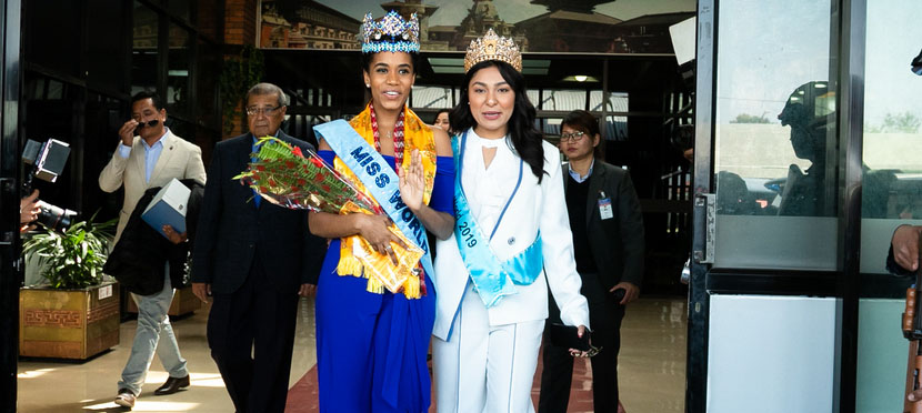 Miss World 2019 Toni-Ann Singh arrives in Nepal