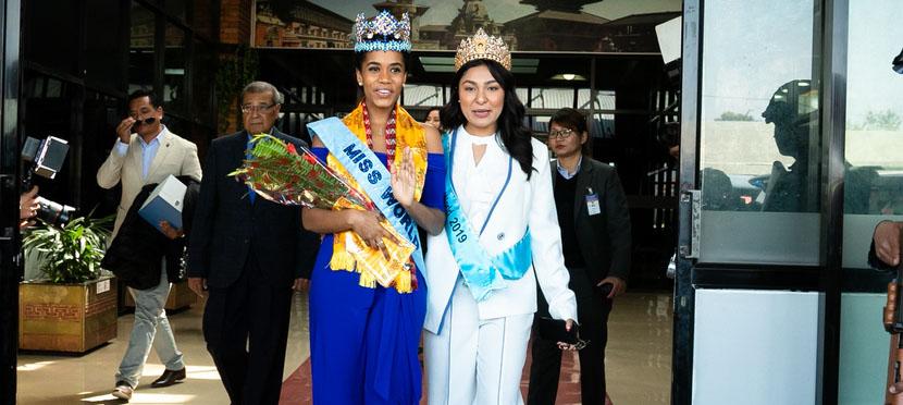 Miss World 2019 Toni-Ann Singh arrives in Nepal